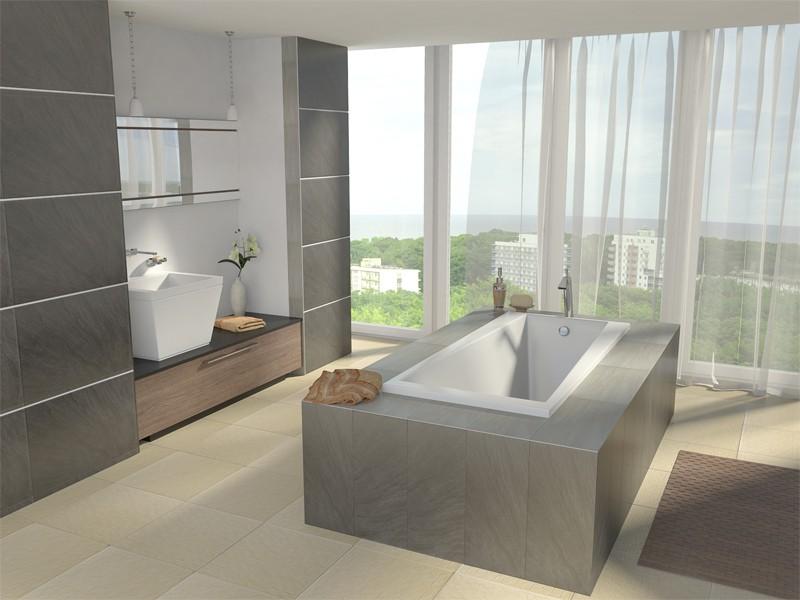 imagen de visualización del interior de la bañera en Maya mental ray