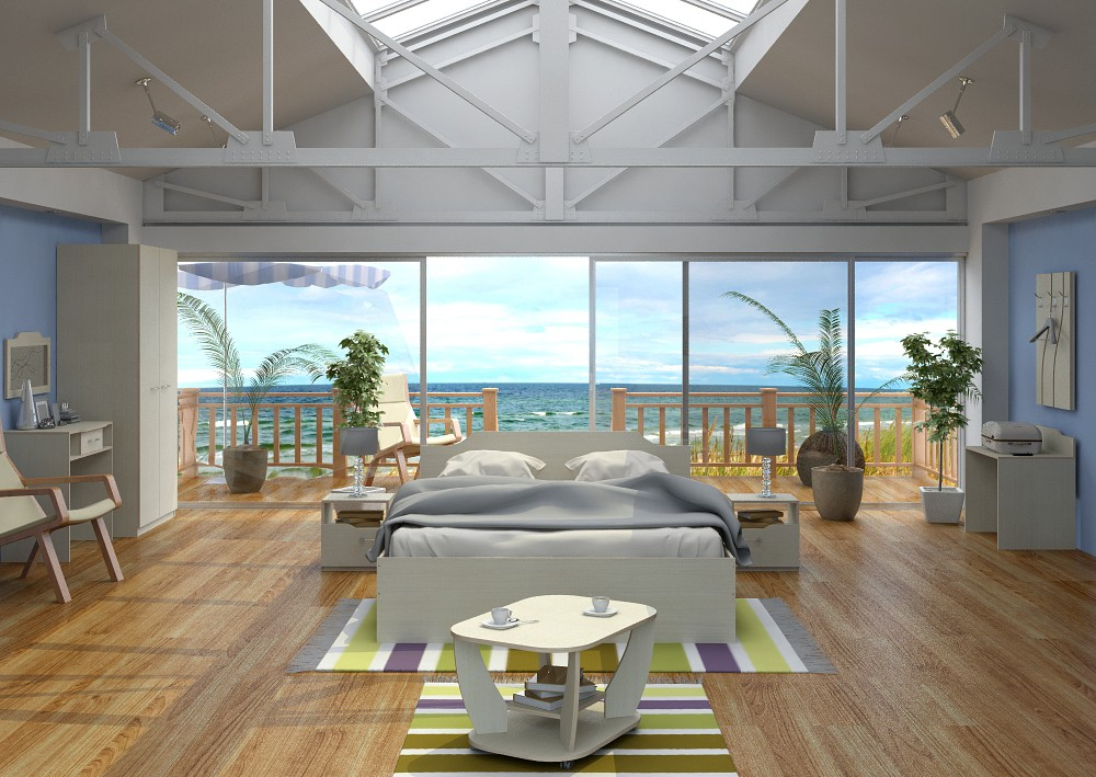 imagen de Habitación de Hotel en 3d max vray
