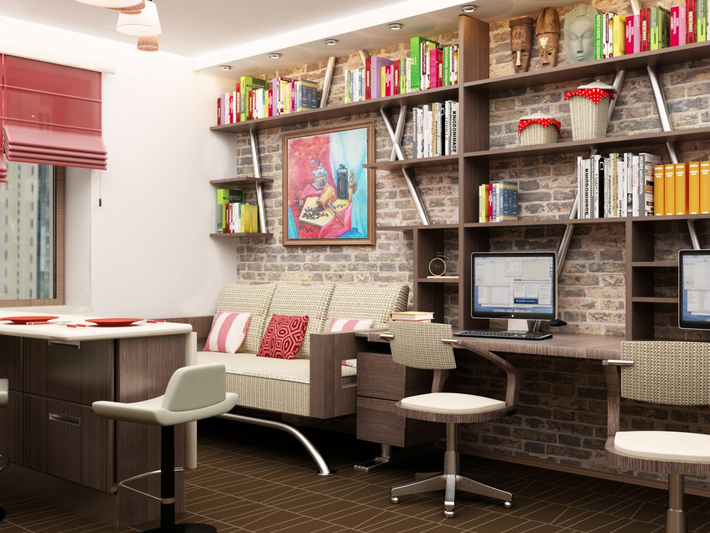Квартира студія в 3d max vray зображення