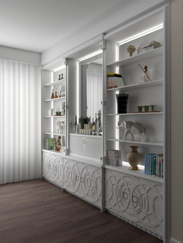 imagen de Armario de la sala de estar en 3d max vray