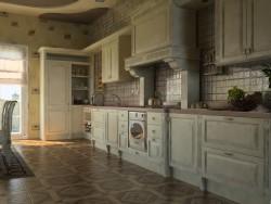 A cozinha de casa do país