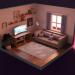 Küçük şirin bir odanın içi