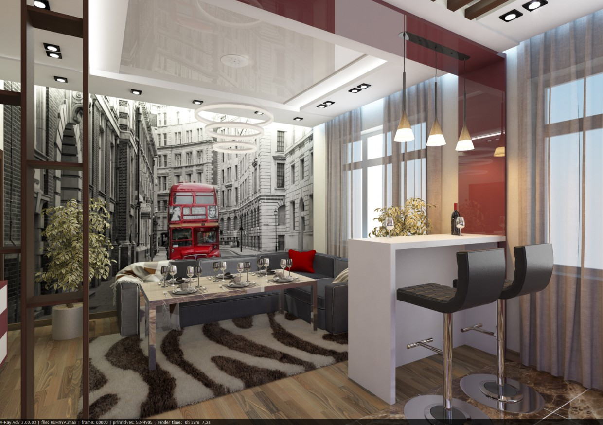I'm going to London in 3d max vray image