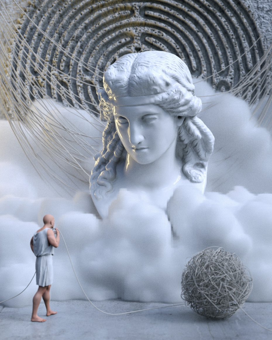 Ariadne's thread in Cinema 4d Other image