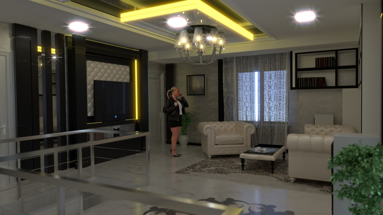 3d visualization of the project in the Living room Blender, render Other of samsonvegass93