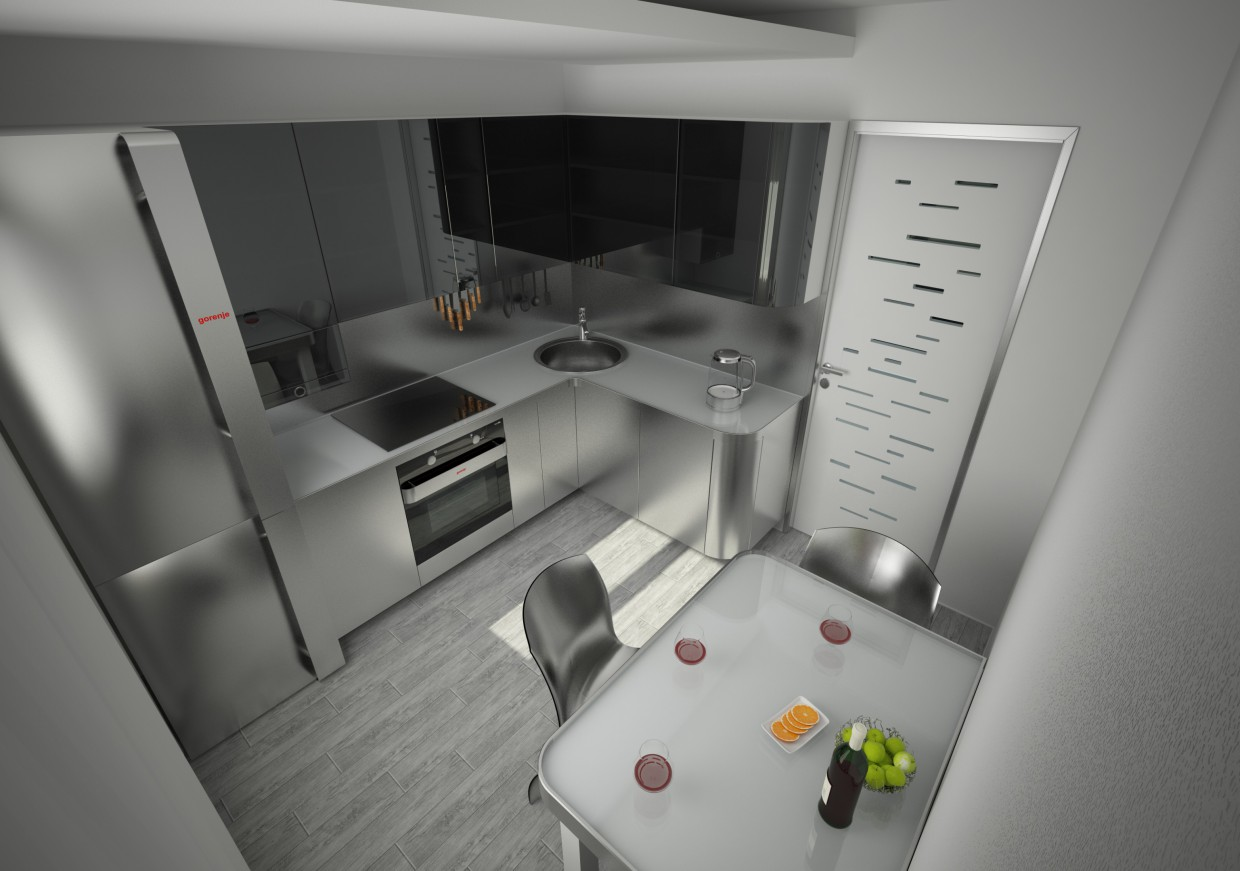 Kitchen in Cinema 4d vray 2.5 image