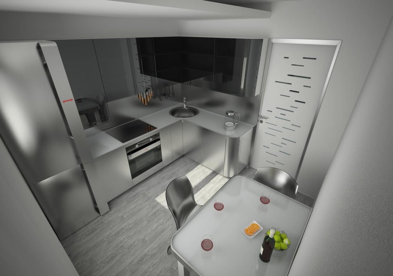 Кухня в Cinema 4d vray 2.5 изображение