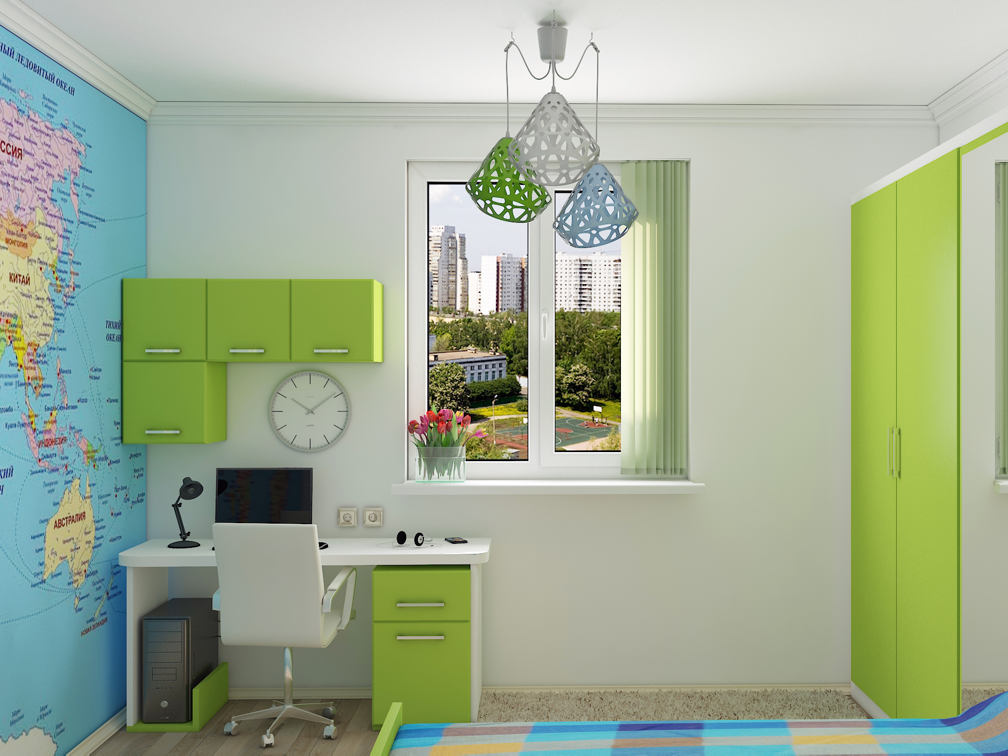 Children's room for a teenager in 3d max vray 3.0 image