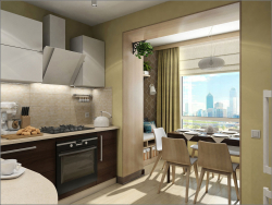 Kitchen interior design in Kiev