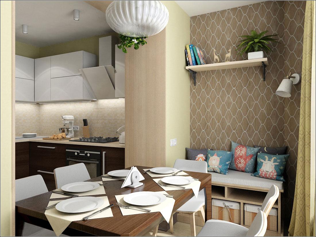 Kitchen interior design in Kiev in 3d max vray 1.5 image