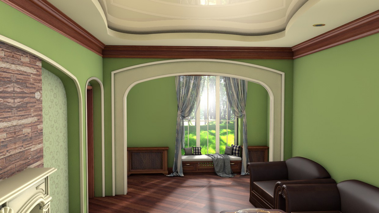 Living room in Cinema 4d Other image