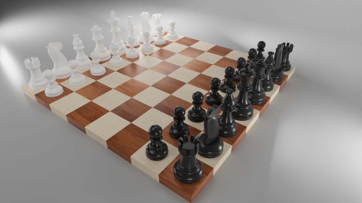 Chess chess in Blender cycles render image