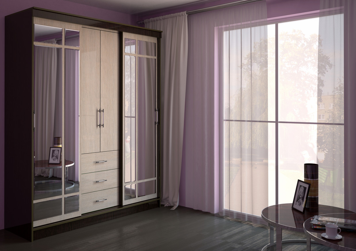 Wardrobe in the interior in 3d max vray 2.0 image