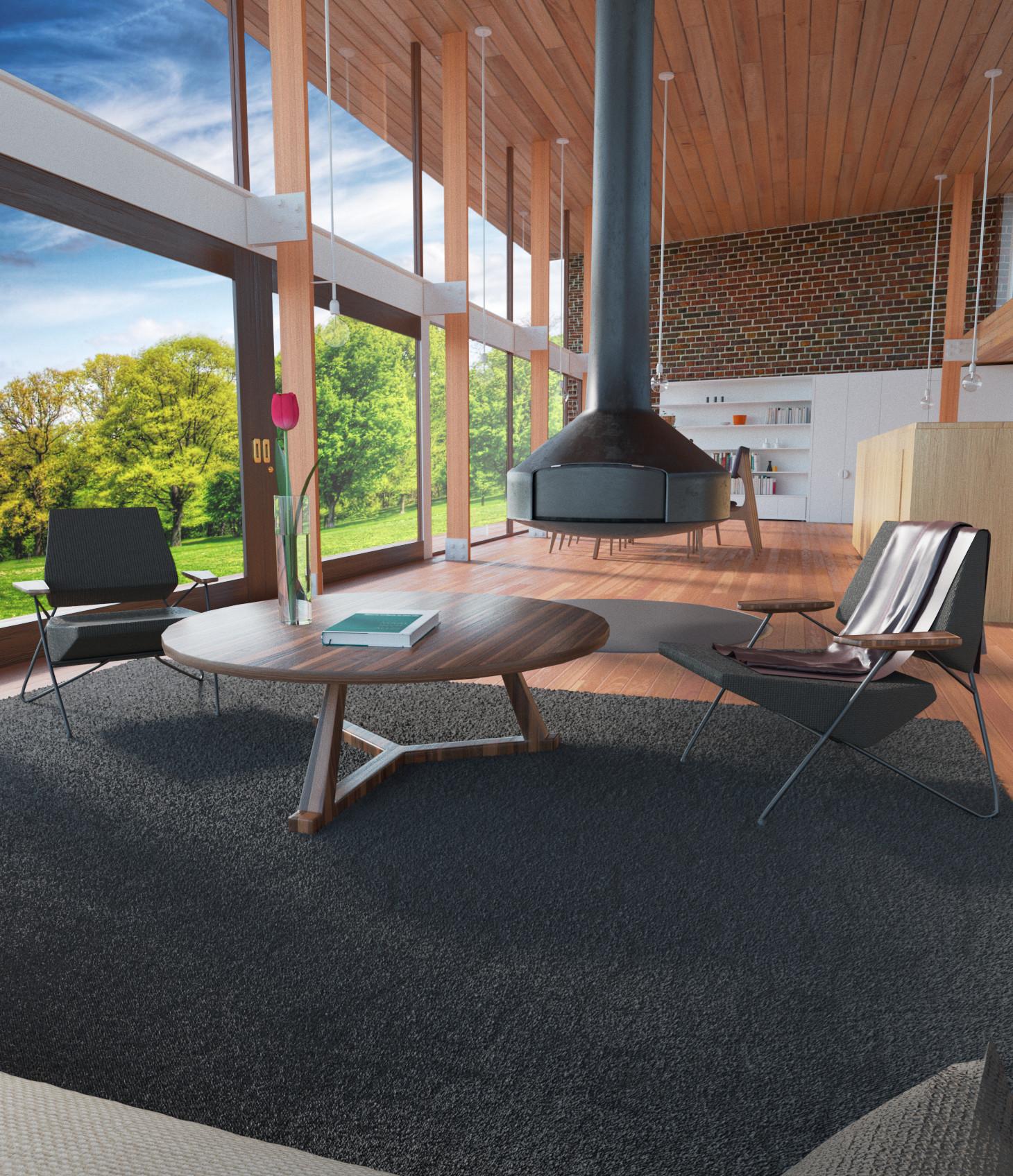 Oak house in 3d max corona render image