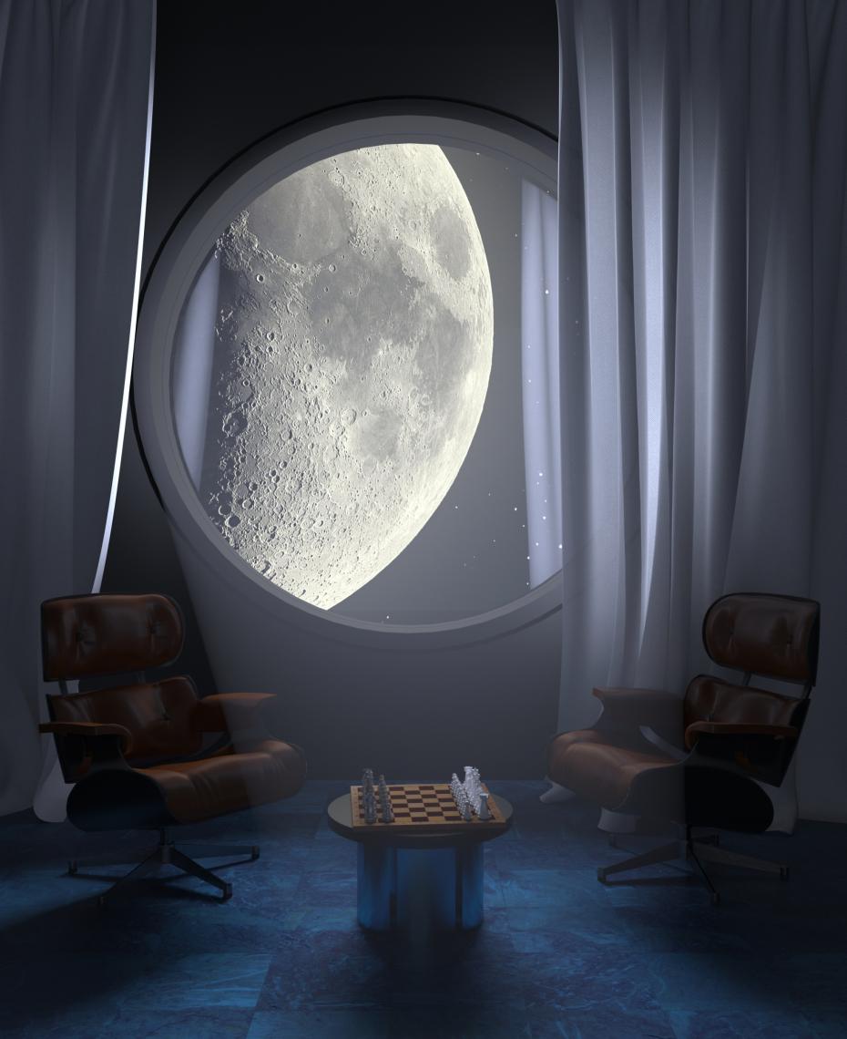 Cosmo-room in 3d max corona render image