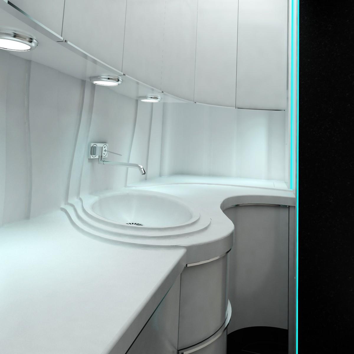 Мини-кухня в 3d max vray изображение