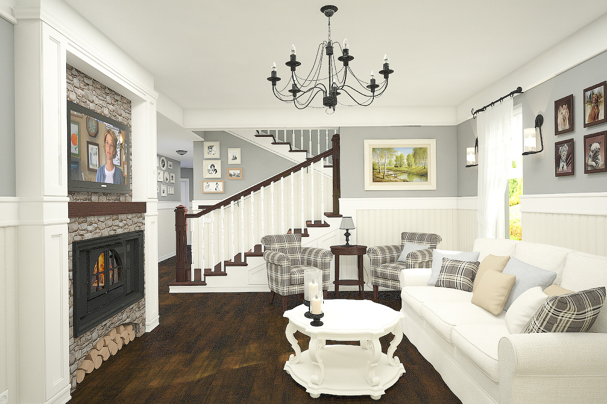 House in American style in 3d max vray 3.0 image