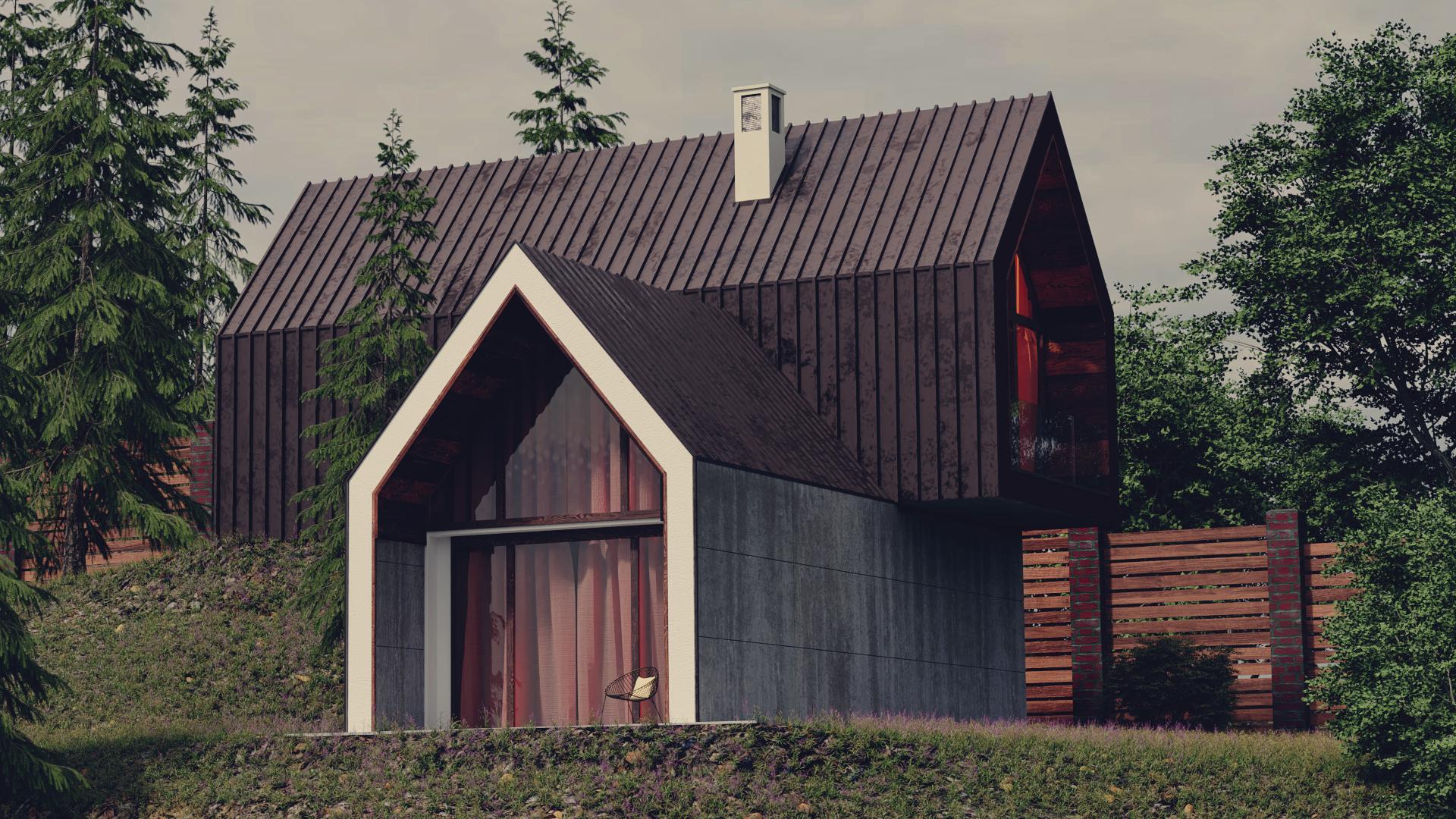 मकान Blender cycles render में प्रस्तुत छवि