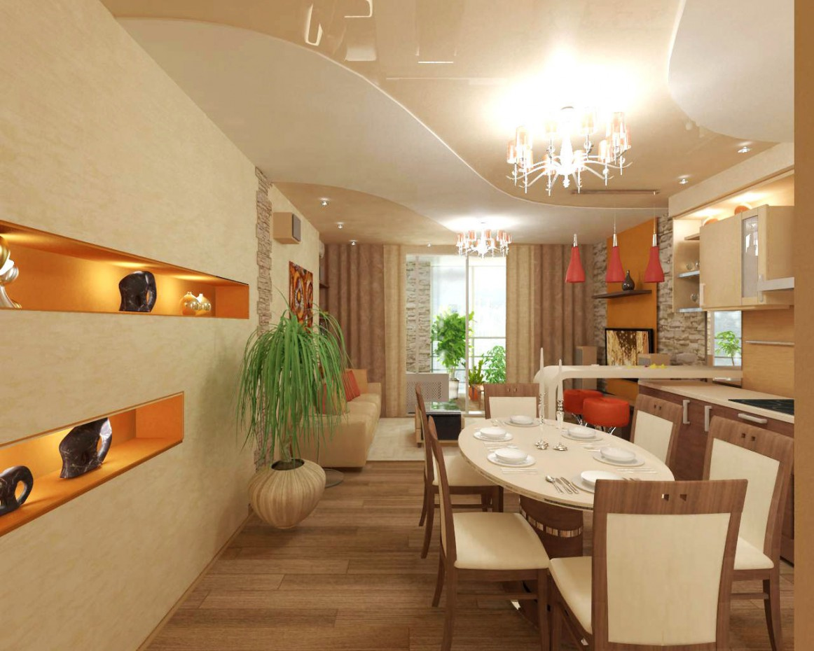 imagen de Pasillo de la cocina en 3d max vray