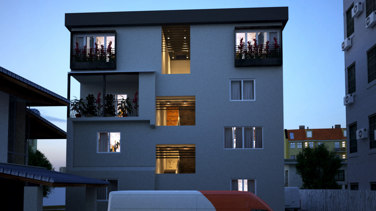 House design in 3d max vray 3.0 image