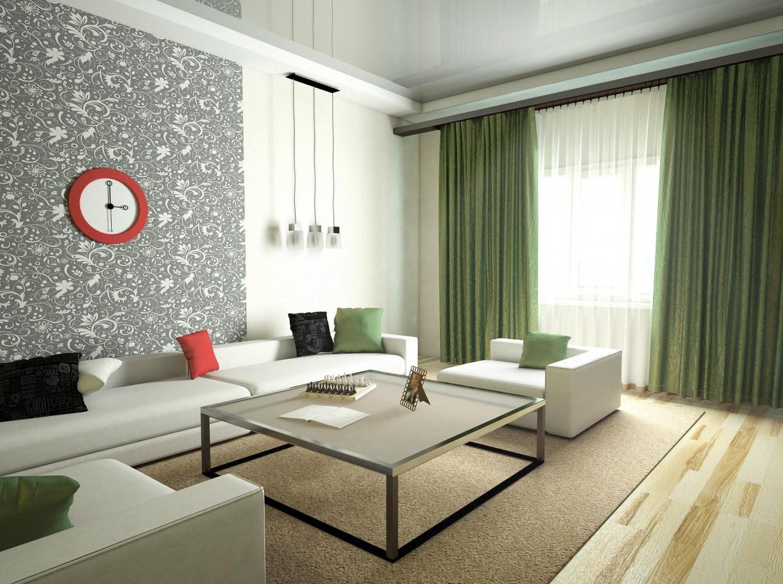 Интерьер гостиной в 3d max vray изображение