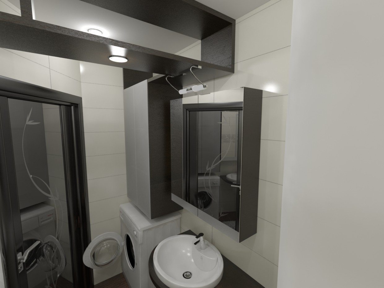 Bathroom (very Makhan'kov) in 3d max vray image