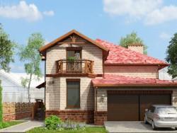 Dibujo de una casa residencial