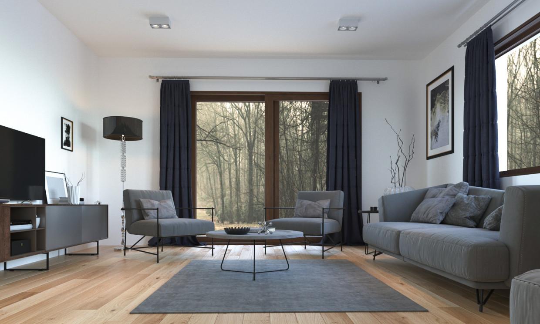 Sala de estar em 3d max corona render imagem