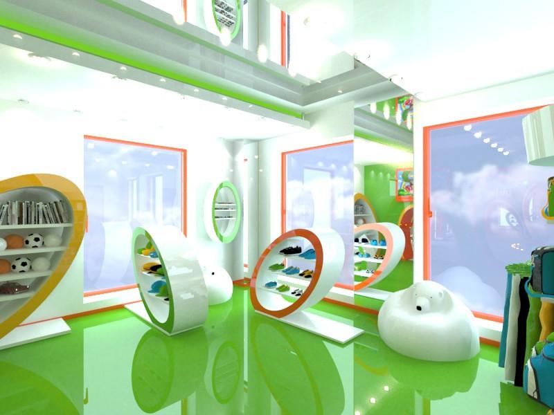 Children's shop babyshop in 3d max vray image
