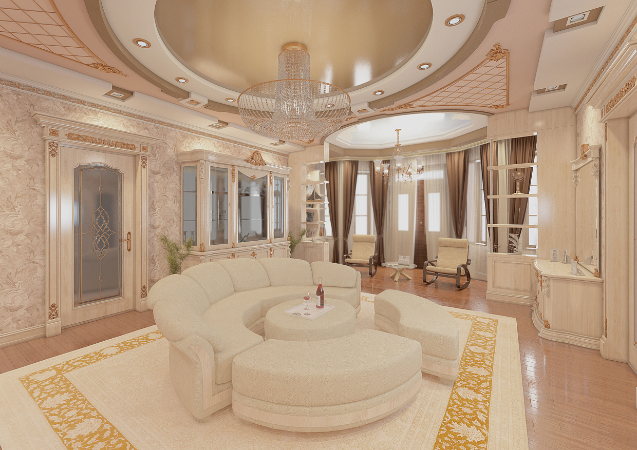 Hall-Livingroom in 3d max vray 3.0 image