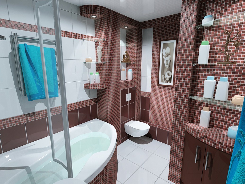 3d visualization of the project in the bathroom 3d max, render vray of OLEG