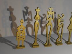 """pequeñas esculturas """"Coro de chicas"""""""