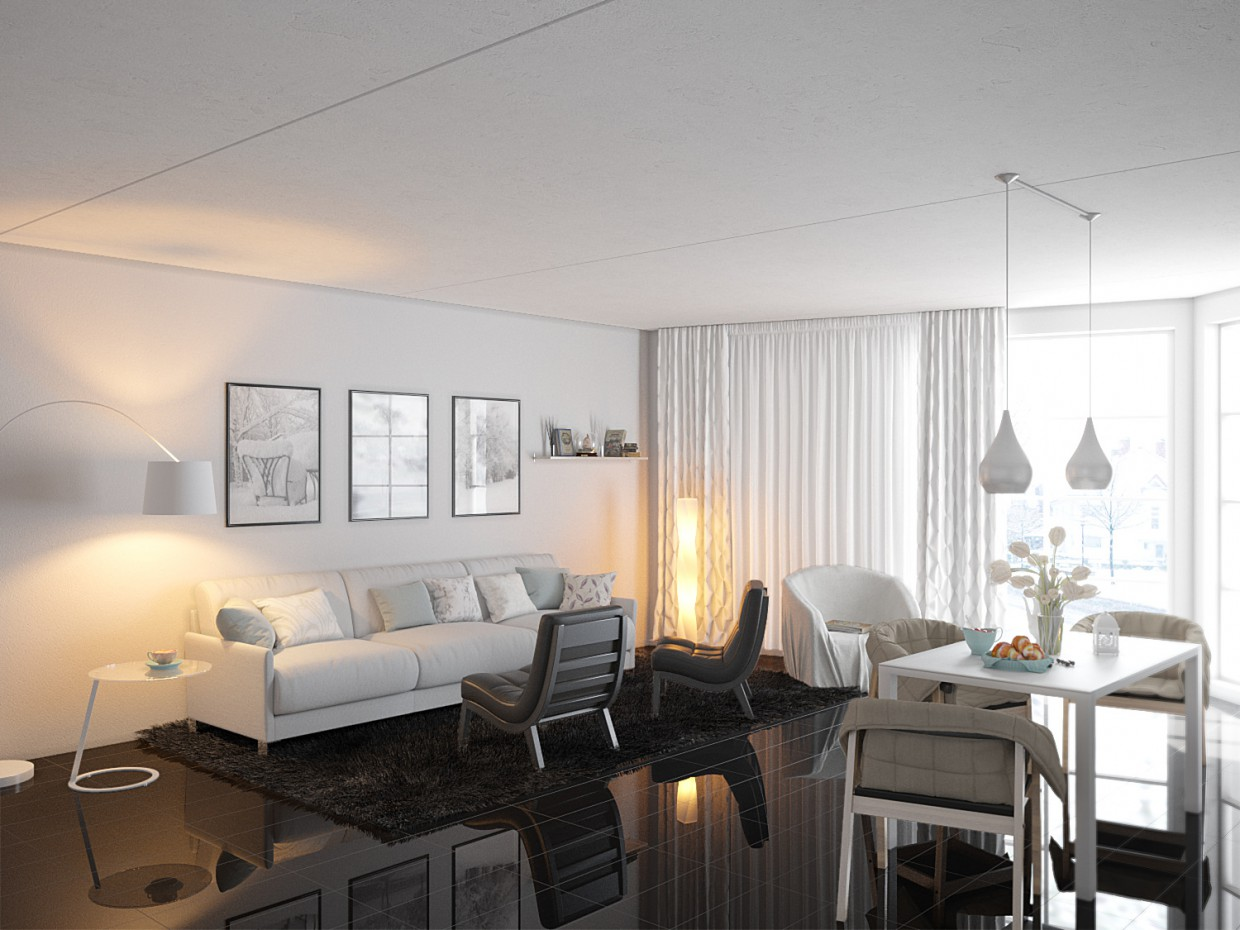 Room in 3d max corona render image