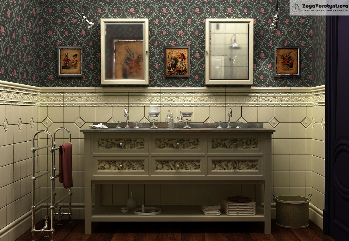 WC Alice in 3d max vray 2.5 resim