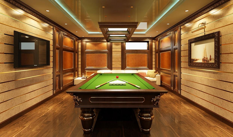 Billiard Room in 3d max vray image