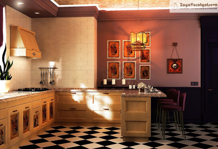The kitchen ALICE in 3d max vray 2.5 image