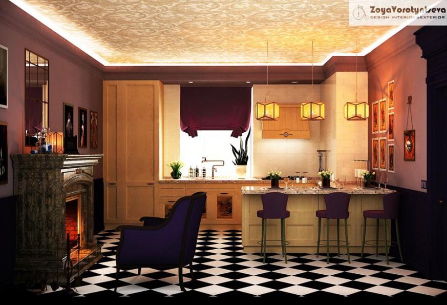 imagen de La cocina de Alicia en 3d max vray 2.5