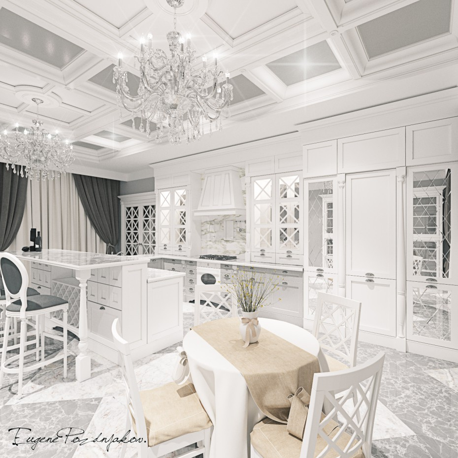 3d visualization of the project in the Visualization for Salon 3d max, render corona render of Евгений Поздняков
