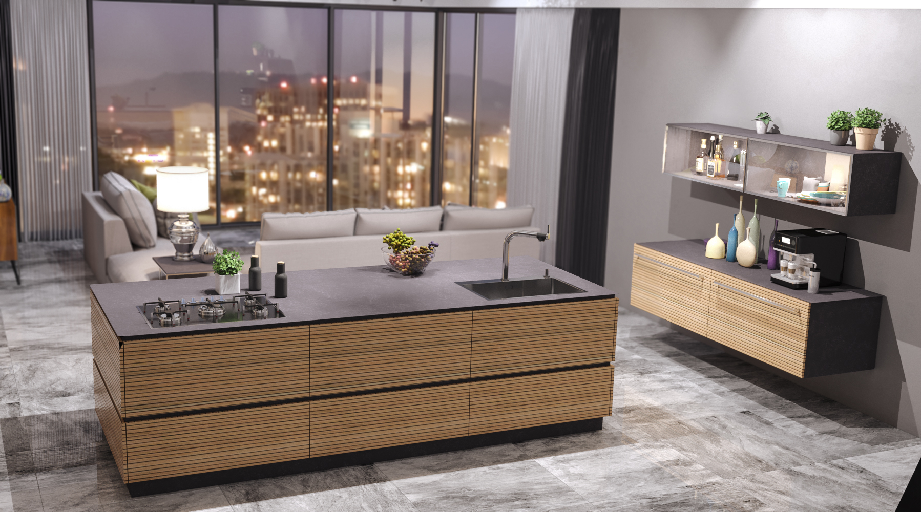 Kitchen fabrice in 3d max corona render image
