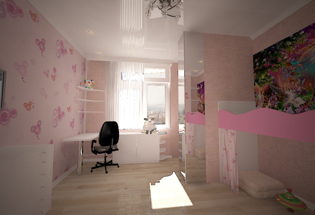 3d visualization of the project in the nursery 3d max, render vray 2.0 of Anastasya