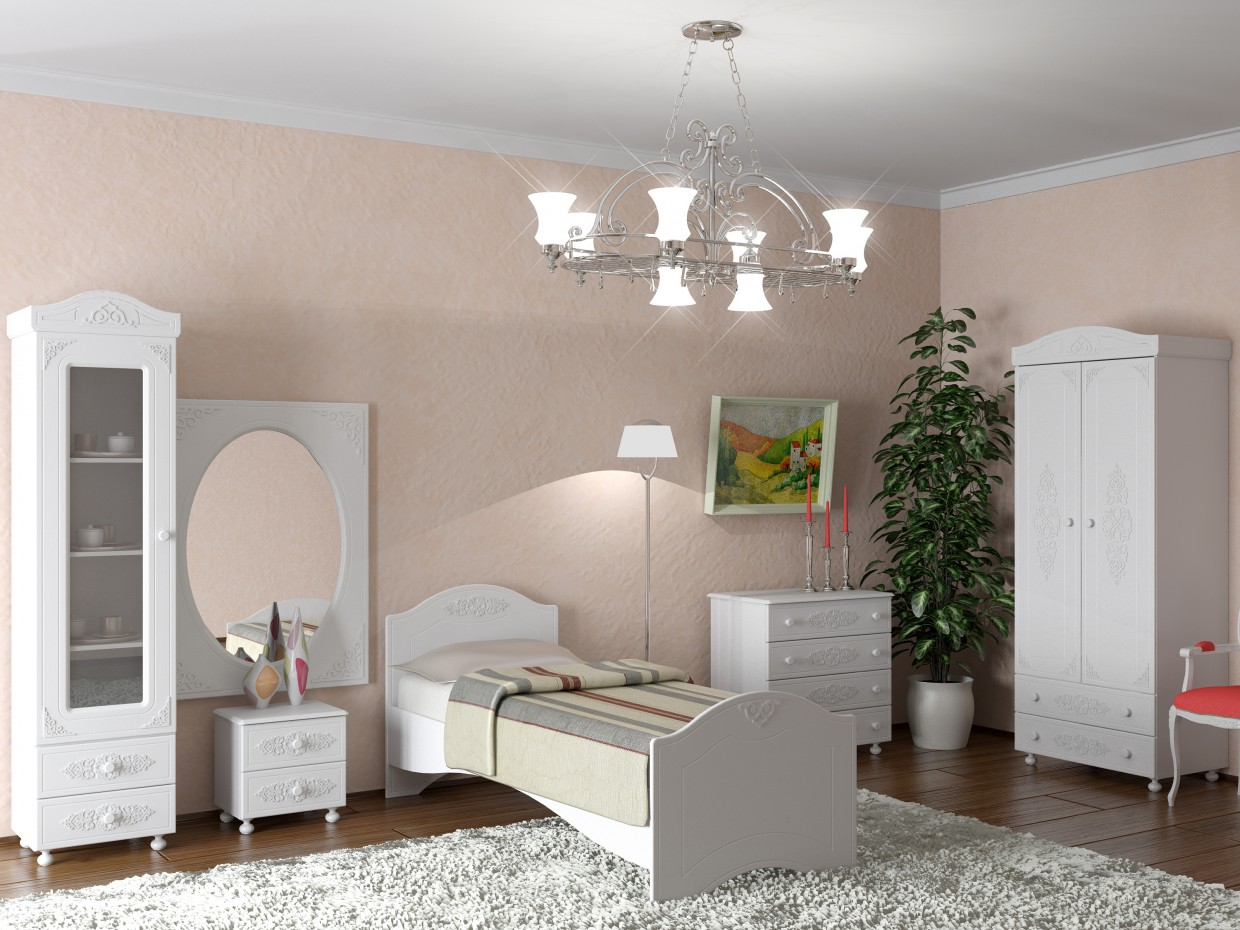 A room for a teenager in 3d max vray image