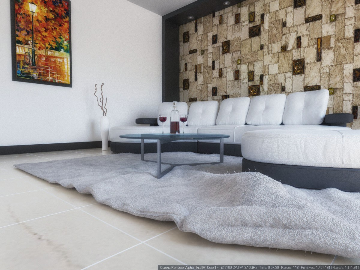 3D Visualisierung des Projektes in der Wohnzimmer 3d max , Rendern corona render von mohamaddarvishi
