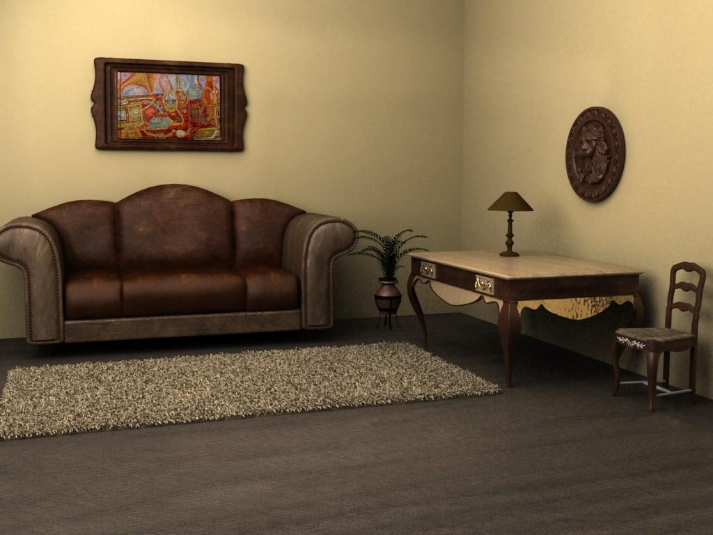Interior em 3d max vray imagem