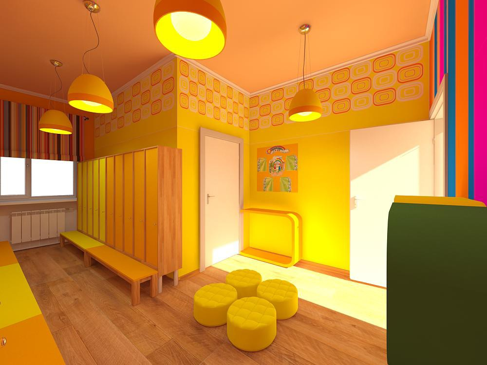 Nursery school  in  3d max   vray  image