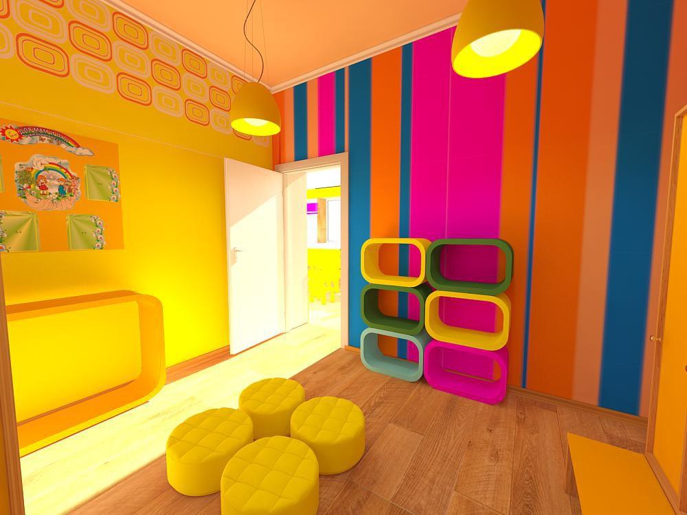 imagen de  Jardín de infantes  en  3d max   vray