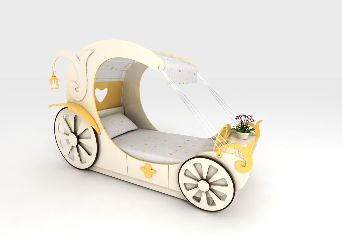 Bed coach in 3d max vray image