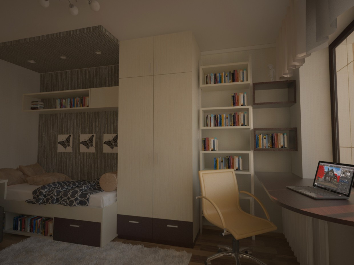 Girls Room in 3d max vray image