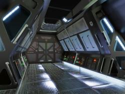 Intérieur de science-fiction