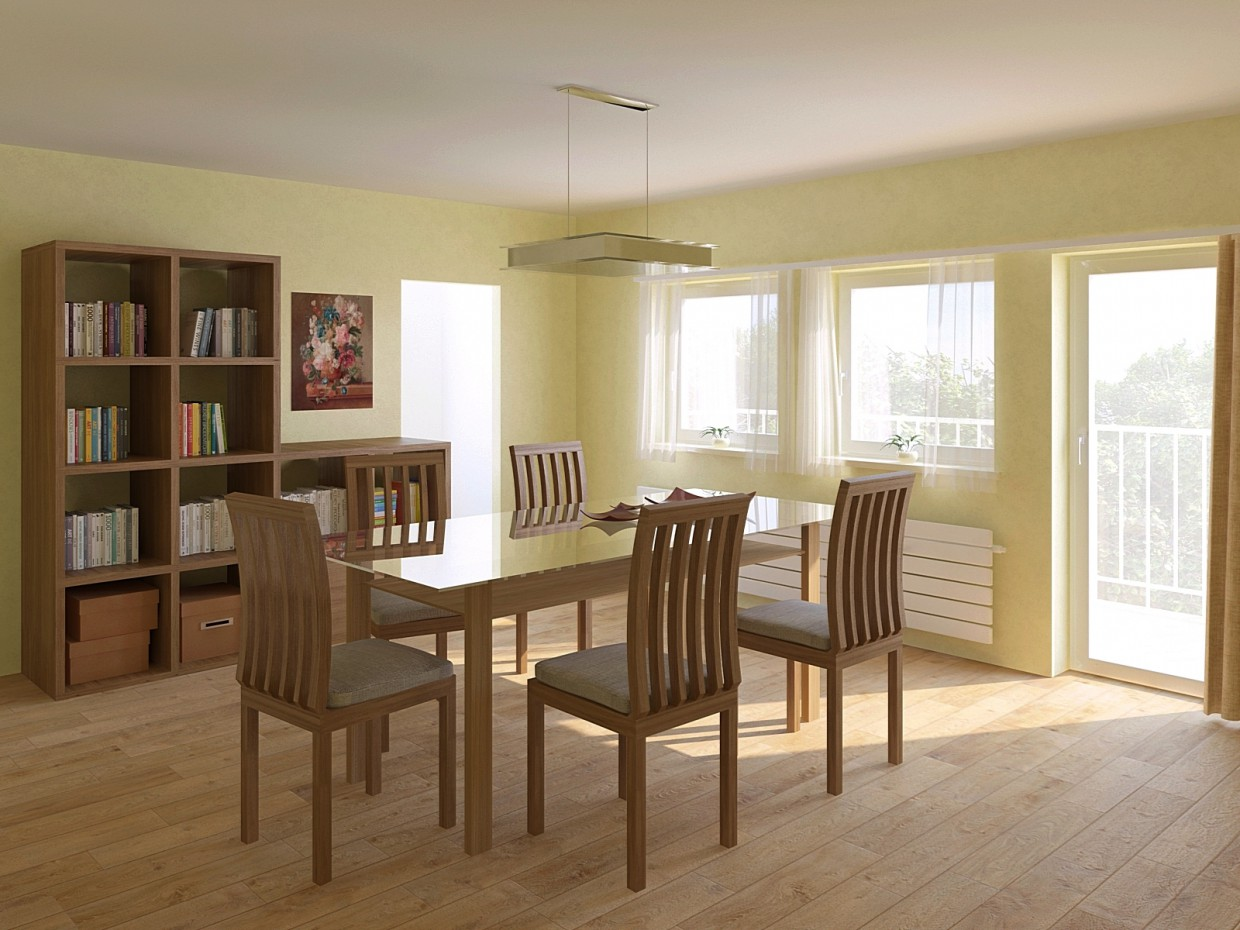 3d visualization of the project in the Dining room 3d max, render vray of sasha Anikusko