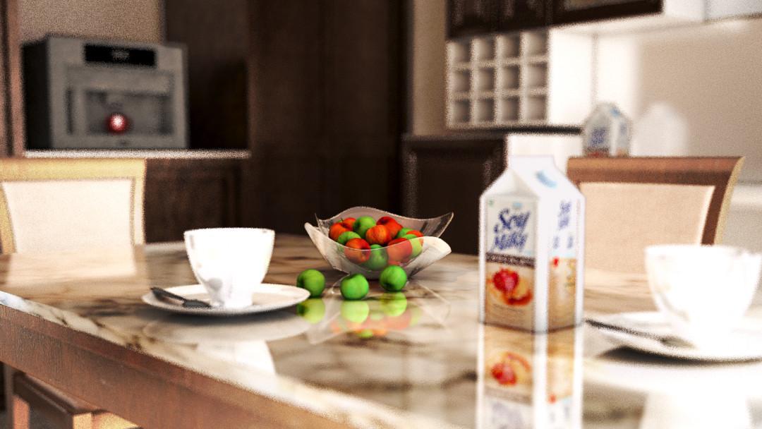 3d візуалізація проекту Вивчення ефекту тієї самої кухні. в 3d max, рендер vray 3.0 від Asifkm